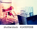 laboratory research  flask... | Shutterstock . vector #414509308