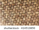 Closed Up Wooden Wicker Textur...