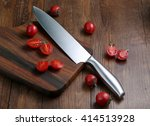 The Kitchen Knife And Cut The...