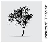 vector tree silhouettes | Shutterstock .eps vector #414521539