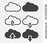 cloud line icon, outline and solid vector illustration, linear pictogram isolated on gray | Shutterstock vector #414530338