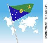 christmas island flag. waving... | Shutterstock .eps vector #414531934