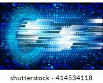 blue abstract hi speed internet ... | Shutterstock .eps vector #414534118