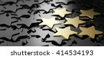 six golden stars over black... | Shutterstock . vector #414534193