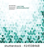 abstract geometric turquoise... | Shutterstock .eps vector #414538468