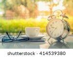 start up concept.coffe cup...   Shutterstock . vector #414539380