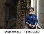 senior man commuter trip... | Shutterstock . vector #414539650