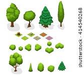 isometric trees. isometric... | Shutterstock .eps vector #414540268