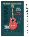 acoustic guitar concert flyer... | Shutterstock .eps vector #414545620