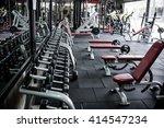 modern gym interior with... | Shutterstock . vector #414547234