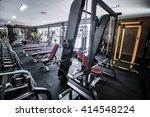modern gym interior with... | Shutterstock . vector #414548224