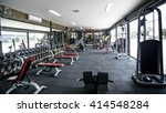 modern gym interior with... | Shutterstock . vector #414548284