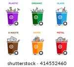 waste segregation and garbage... | Shutterstock .eps vector #414552460