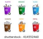 waste segregation and garbage... | Shutterstock .eps vector #414552460
