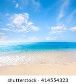 beach and tropical sea | Shutterstock . vector #414554323