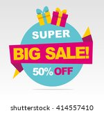 super  big sale banner. vector... | Shutterstock .eps vector #414557410