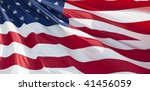 photo of american flag waving... | Shutterstock . vector #41456059