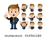 cute set   set of  businessman | Shutterstock .eps vector #414561184