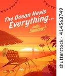 the ocean heals everything.... | Shutterstock .eps vector #414563749