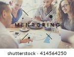 mentoring guiding leader... | Shutterstock . vector #414564250