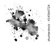 watercolor black and white... | Shutterstock .eps vector #414564724