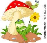 cute frog and snail cartoon... | Shutterstock . vector #414568258