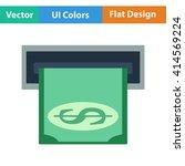 flat design icon of dollar...