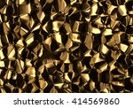 golden abstract voronoi... | Shutterstock . vector #414569860