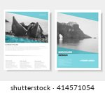 leaflet layout. brochure design.... | Shutterstock .eps vector #414571054
