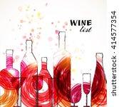 restaurant or wine bar menu... | Shutterstock .eps vector #414577354