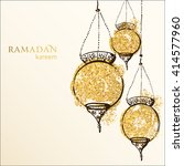 ramadan kareem background.... | Shutterstock .eps vector #414577960