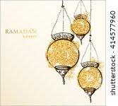 ramadan kareem background.... | Shutterstock .eps vector #414577960