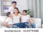 indoor portrait of asian mixed... | Shutterstock . vector #414579388