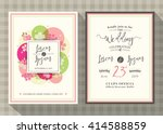 floral cherry blossom wedding... | Shutterstock .eps vector #414588859