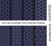 navy asian abstract luxury... | Shutterstock .eps vector #414592930
