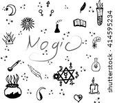 pattern of ornamental magic... | Shutterstock .eps vector #414595234