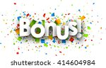 bonus paper background with... | Shutterstock .eps vector #414604984