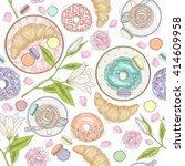 seamless breakfast pattern... | Shutterstock .eps vector #414609958