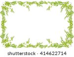 bamboo leaves frame isolated on ...   Shutterstock . vector #414622714