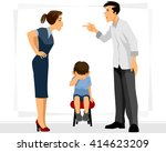 vector illustration of a father ... | Shutterstock .eps vector #414623209