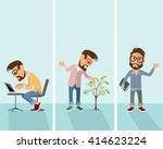 vector illustration of a three... | Shutterstock .eps vector #414623224