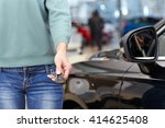 test drive  cropped closeup of... | Shutterstock . vector #414625408