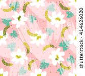 floral pattern texture for... | Shutterstock . vector #414626020