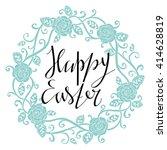 happy easter card design... | Shutterstock . vector #414628819