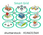smart grid diagram.... | Shutterstock .eps vector #414631564