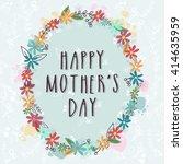 elegant greeting card design... | Shutterstock .eps vector #414635959