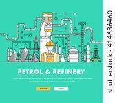 modern petrol industry thin... | Shutterstock .eps vector #414636460