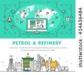 modern petrol industry thin... | Shutterstock .eps vector #414636484