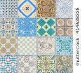 ceramic tiles patterns | Shutterstock . vector #414638338