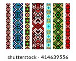 trendy  contemporary ethnic... | Shutterstock .eps vector #414639556